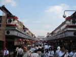 Asakusa/Senso-ji: A street full of shopping kiosks leading up to the temple